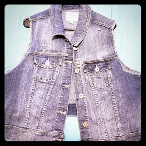 Torrid Sleeveless Denim Vest